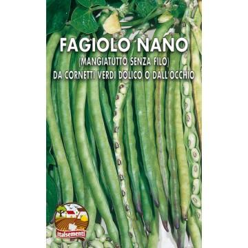 Fagiolo Nano da Cornetti Verdi Dolico o Dall'Occhio